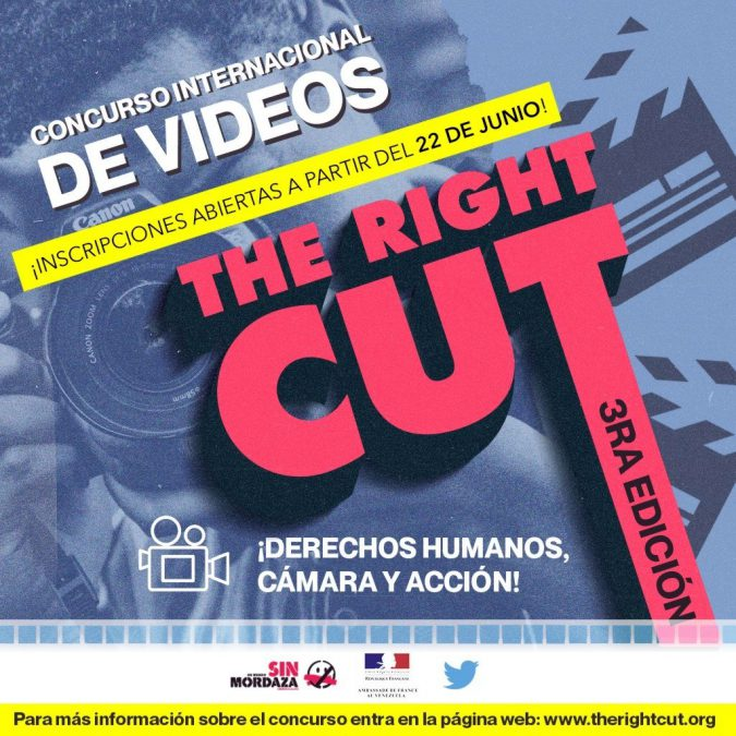 "Concurso The Right Cut 2020 ""Derechos humanos, cámara, ¡acción!"""