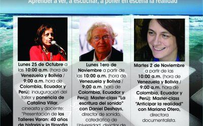 Tres conferencias en línea abiertas al público con los Talleres Varan de París